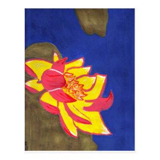 lotus flower postcard