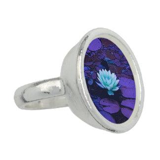 Lotus Flower Purple Blue Turquoise Floral Pond Zen