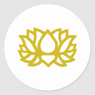 Lotus flower round sticker