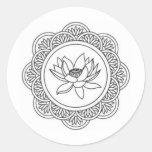 Lotus Flower Round Sticker
