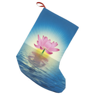 Lotus Flower Small Christmas Stocking