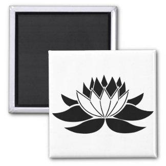 Lotus Flower Square Magnet