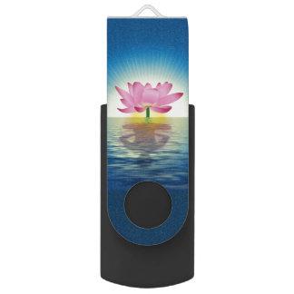 Lotus Flower Swivel USB 2.0 Flash Drive