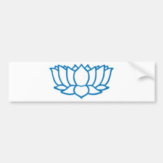 Lotus Flower Symbol Bumper Sticker