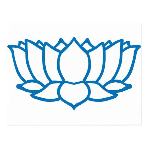 Lotus Flower Symbol Postcard