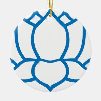 Lotus Flower Symbol Round Ceramic Decoration