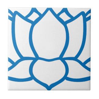 Lotus Flower Symbol Ceramic Tile