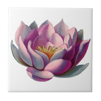 Lotus Flower Small Square Tile