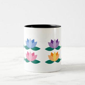 Lotus Flower Two-Tone Coffee Mug