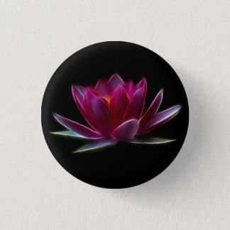 Lotus Flower Water Plant 3 Cm Round Badge