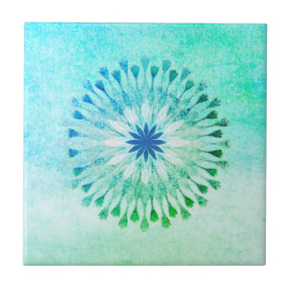 Lotus Flower Watercolor Beach Art Healing Yoga Tile