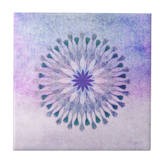 Lotus Flower Watercolor Floral Art Healing Yoga Small Square Tile