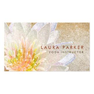 Lotus Flower Watercolor Healing Meditation Yoga Pack Of Standard Business Cards