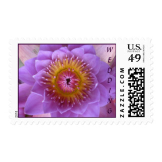 Lotus Flower Wedding Collection Postage Stamp