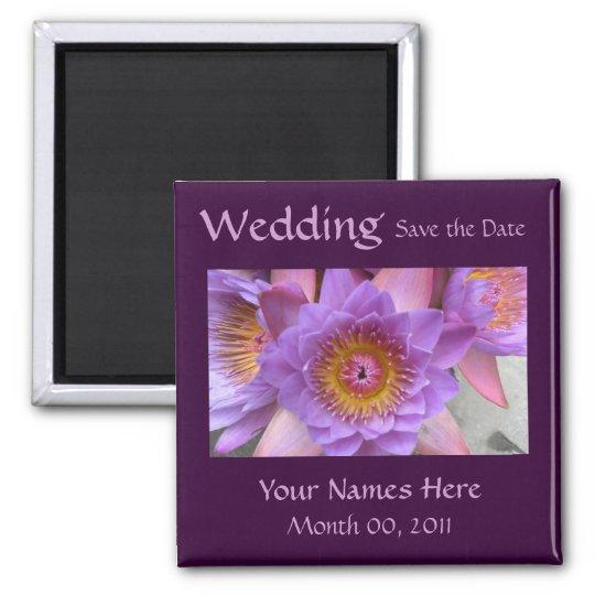 Lotus Flower Wedding Magnet