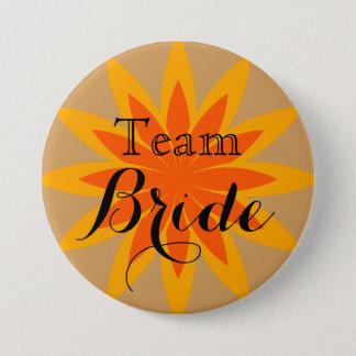 Lotus flower Weedding Team Bride 7.5 Cm Round Badge