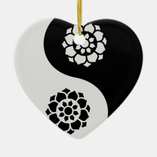 Lotus Flower Yin Yang Christmas Ornament