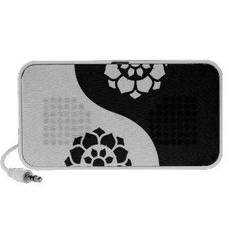 Lotus Flower Yin Yang iPod Speakers