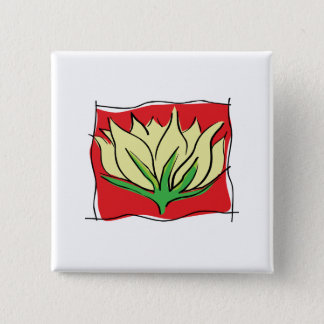 Lotus Flower Yoga 15 Cm Square Badge
