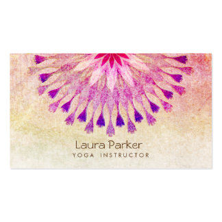 Lotus Flower Yoga Instructor Meditation Holistic Pack Of Standard Business Cards