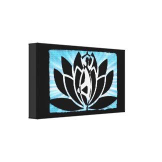 Lotus Flower Yoga Meditation Zen Canvas Wall Art