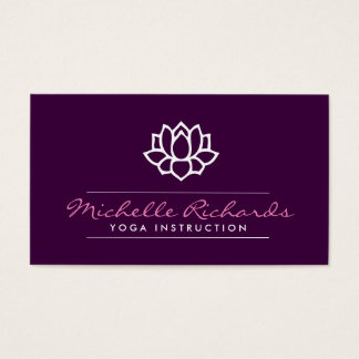 Lotus Flower Yoga Teacher, Life Coach Purple