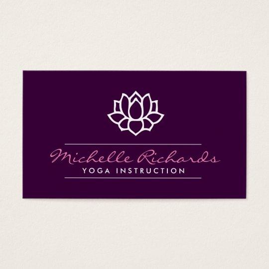 Lotus Flower Yoga Teacher, Life Coach Purple Business