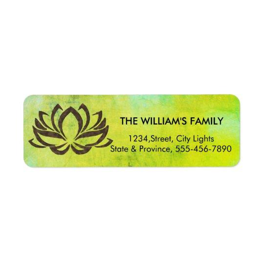 Lotus Flower Yoga Vintage Green Holistic