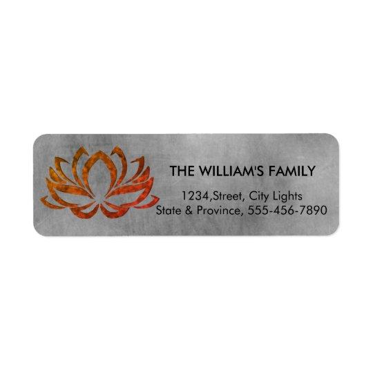 Lotus Flower Yoga Vintage Meditation Holistic Return Address Label