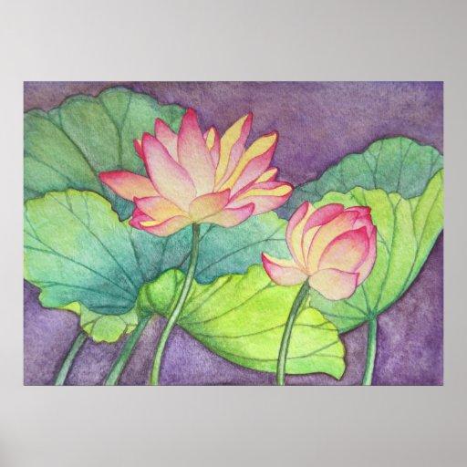 Lotus Flowers #2 Poster Print