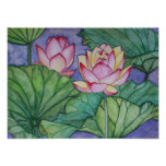 Lotus Flowers #4 Poster Print