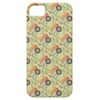Lotus flowers and skulls iPhone case Barely There iPhone 5 Case