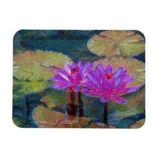 Lotus Flowers in Bloom Vinyl Magnet