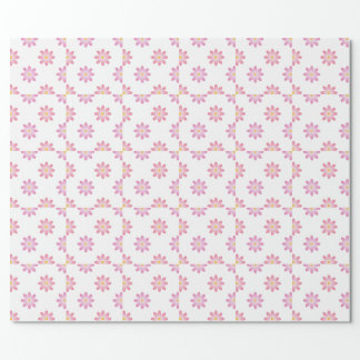 Lotus flowers in shades of pink wrapping paper