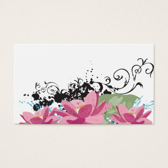 Lotus flowers Profile Card