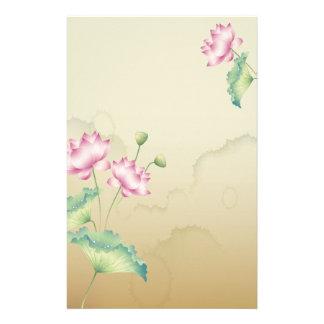 Lotus Flowers Stationary Personalised Stationery