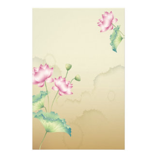 Lotus Flowers Stationary Personalized Stationery