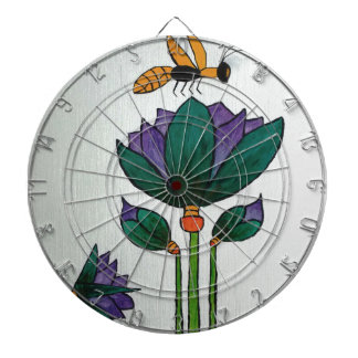 Lotus flowers with Bee Dartboard