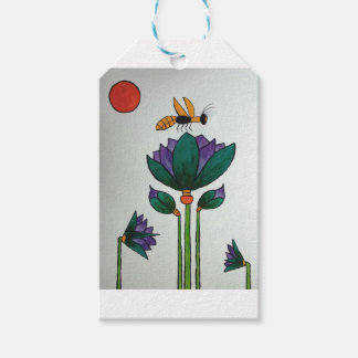 Lotus flowers with Bee Gift Tags