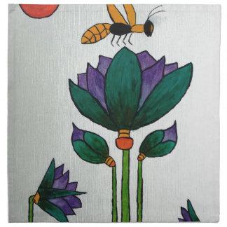 Lotus flowers with Bee Napkin