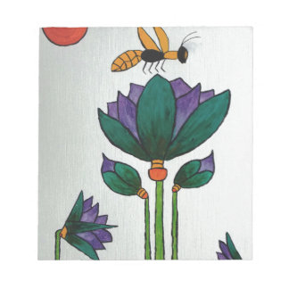 Lotus flowers with Bee Notepad