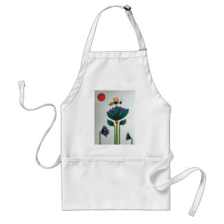 Lotus flowers with Bee Standard Apron
