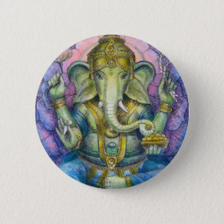 Lotus Ganesha Button