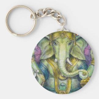 Lotus Ganesha Keychain