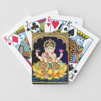 LOTUS GANESHA TANJORE PAINTING POKER DECK