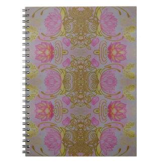 Lotus Garden Spiral Notebook