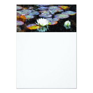 Lotus Hearts 13 Cm X 18 Cm Invitation Card