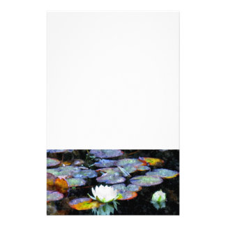 Lotus Hearts Personalized Stationery