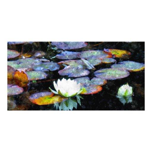 Lotus Hearts Photo Greeting Card