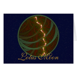 Lotus Horse Moon Greeting Card